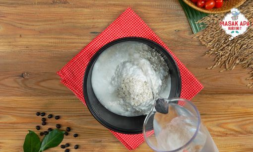 Langkah resep nasi bakar semur betawi - Masak beras dan beras ketan