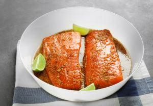 resep ikan salmon honey garlic salmon