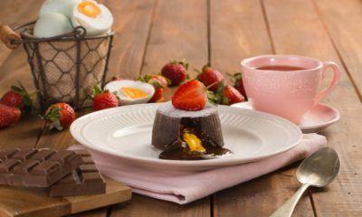 chocolate molten telur asin