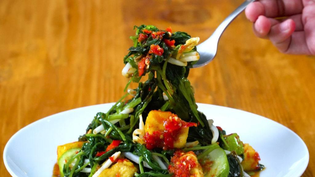 Resep Rujak Kangkung - Masak Apa Hari Ini?