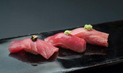 Akami, chutoro, dan otoro ikan tuna.