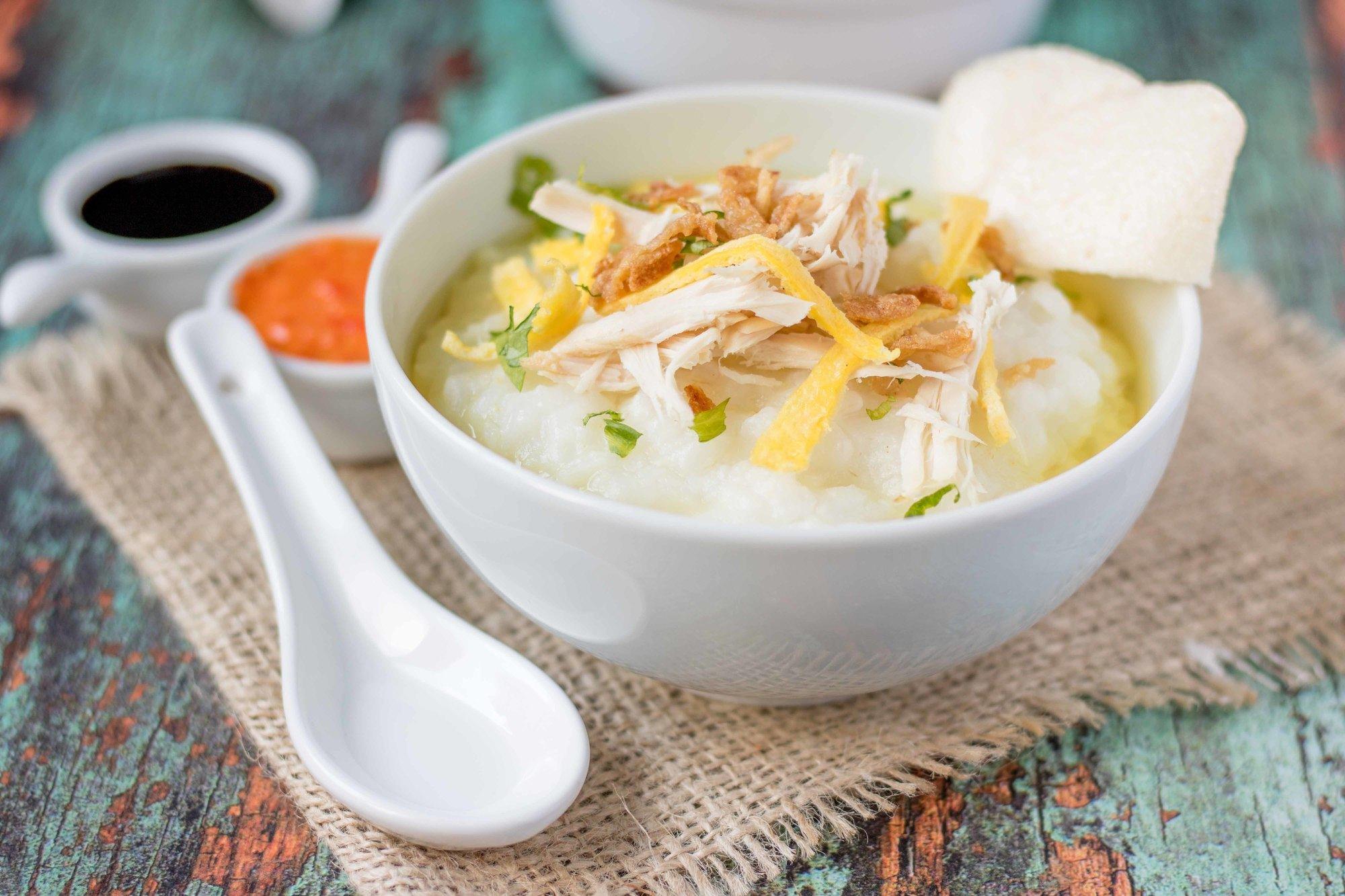 Resep Bubur Ayam Kuning
