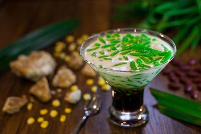 Resep bubur kacang hijau yang dijadikan es cendol dengan saus santan.