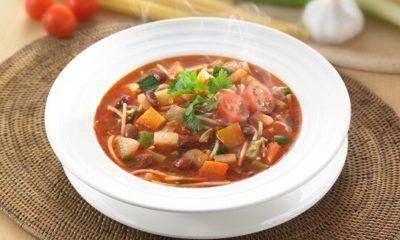 Sup minestrone ini mudah untuk dibuat.