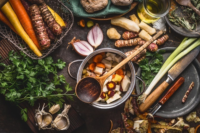 Cara masak sup dalam rice cooker.