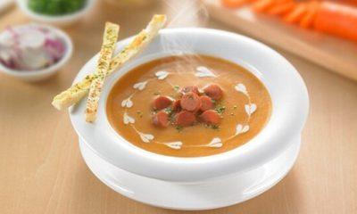 Sup krim a la Jerman tersaji.