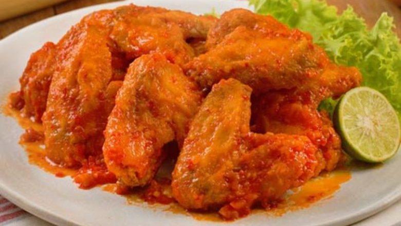Chicken Wings Saus Padang nikmat tersaji.