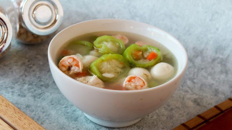 Sup oyong bakso ikan sehat dan lezat