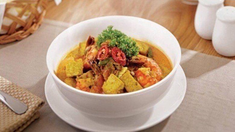 Udang Tahu Taoco nikmat tersaji hangat.