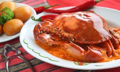 Hasil dari resep kepiting manis untuk disajikan di akhir pekan.