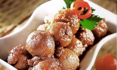 Hasil dari resep perkedel kentang ikan di piring putih.