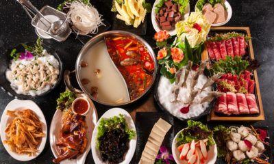 Hidangan hot pot khas Thailand.