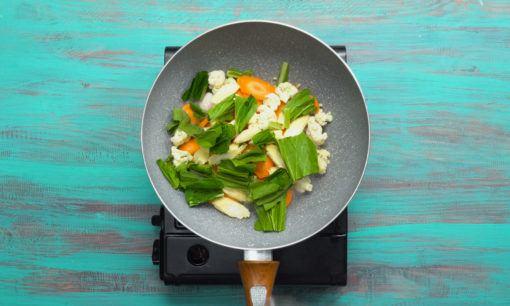 Variasi sayuran cap cay goreng.