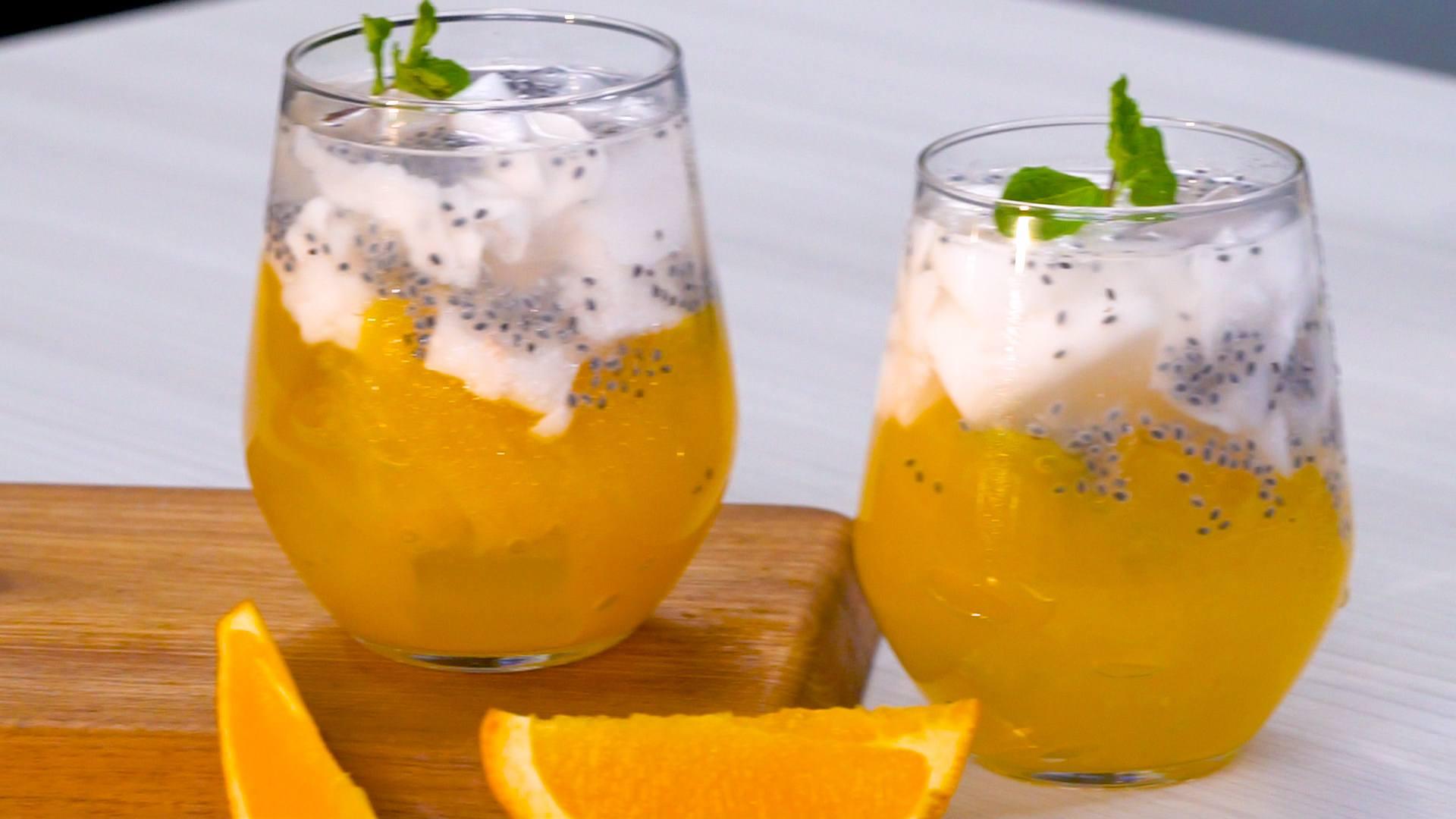 Resep Es Kelapa Muda Jelly Jeruk - Masak Apa Hari Ini?