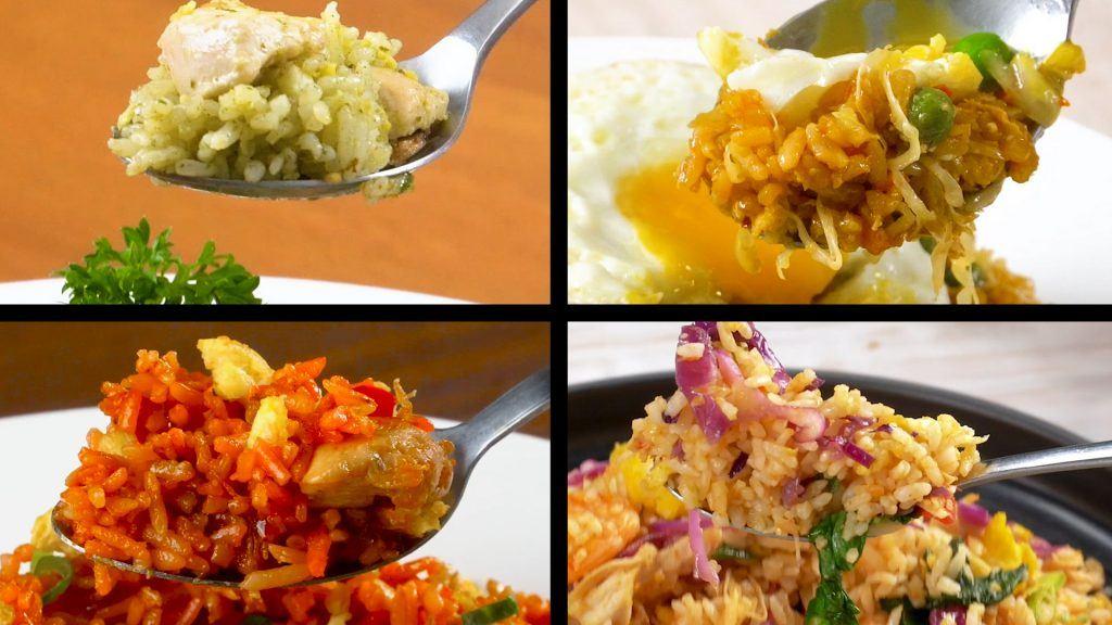 Kolase empat resep nasi goreng enak disandingkan.