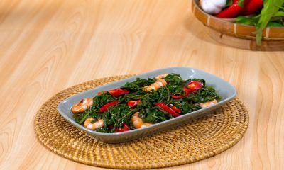 Resep Tumis Kangkung Udang, Sayur Praktis Untuk Sehari-hari