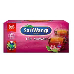 Satu box SariWangi Teh Mawar.