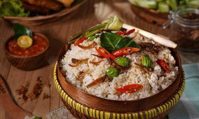Resep Nasi liwet Sunda dengan topping petai.