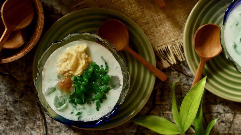 Resep cendol durian di mangkuk saji.