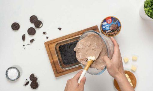 no bake cookies cheesecake adonan