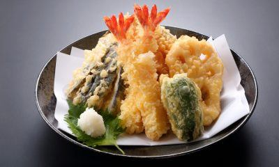 Tempura sayuran untuk menu pembuka.